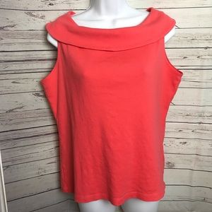 Rafaela Women's Cowl neck sleeveless Top SZ Large